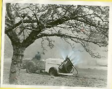 1956 Kent England Tractor Towing Chemical Sprayer Original Press Photo