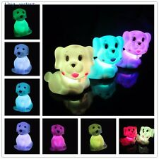 Dog-Shaped Night Light Color Changing LED Light Home Party Decoration 1pc