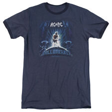 Sizes S-3XL New Authentic AC/DC Ballbreaker Retro Ringer T-Shirt Rock Tees
