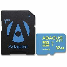 Abacus 24-7 Brand 32GB Micro SD Card Class 10 Speed with SD Adapter (microSDHC)