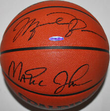 Michael Jordan & Magic Johnson Authentic Signed Official NBA Basketball UDA