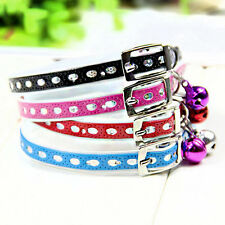 Adjustable Puppy Dog Kitten Kitty Cat Waterproof Neck Collar With Bell New Sale