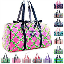 Personalized Quilted Duffle Bag Large Weekender Monogram Embroidery Cheer Dance