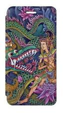 W1240 Bali Painting Flip Case For IPHONE Samsung