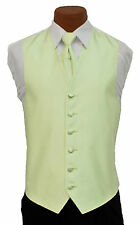 Small Mens After Six Aries Mint Fullback Prom Wedding Tuxedo Vest & Tie