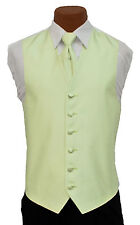 X-Large Long Mens After Six Aries Mint Fullback Prom Wedding Tuxedo Vest & Tie