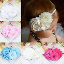 Wholesale Newborn Baby Girl  Cloth Headband Christening Flower Baby Headband Hot