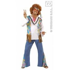 Mens Woodstock Hippie Man Costume Outfit for 60s 70s Fancy Dress