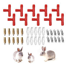 5/10Pcs Nipple Water Drinker Rabbit Rodents Mouse Bunny Feeder Waterer Automatic
