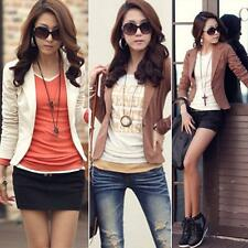 Chic Womens Ladies Slim Solid OL Suit Blazer Jacket Coat Outwear One Button Tops