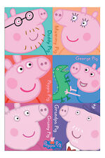 Peppa Pig Characters Poster New - Maxi Size 36 x 24 Inch