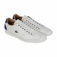 Lacoste Misano 34 Mens White Leather Lace Up Sneakers Shoes