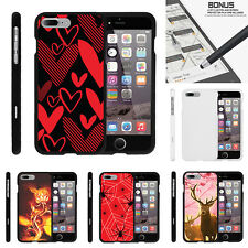 "For Apple iPhone 7 Plus (5.5"") Case Hard Snap On 2 Piece Shell Pink Hunting Deer"