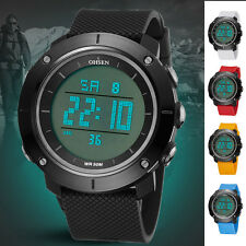 OHSEN Men's Digital Sports Watch LED Digital Large Face Casual Backlight Watch