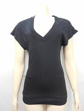 New Urban outfitters BDG Womens Black Ribbed V-Neck Tunic S/S Tee T-shirt XS-XL