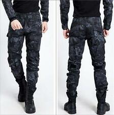 Mens Military Trousers Camo Combat Army Cargo Work Outdoor Pocket loose Pants