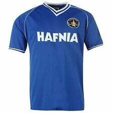 Everton FC 1982 Home Jersey Score Draw Mens Royal Retro Football Soccer Shirt