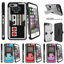 "For Apple iPhone 7 (4.7"") Silver Case Holster Clip Stand Game Controller"