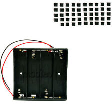 """50 x Holder Case box for 4 18650 17650 Li-ion Battery with 6"""" Wire Lead"""