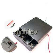 5 Holder Box Case 4 AAA Battery 6V ON/OFF Switch M1