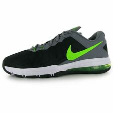 Nike Air Max Full Ride Training Shoes Mens Black/Green Fitness Trainers Sneakers
