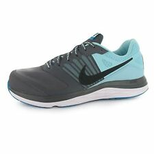 Nike Dual Fusion X Running Shoes Womens Grey/Black/Blue Trainers Sneakers
