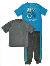 US Polo Assn Toddler Boys Turquoise Top 3pc Sweat Pant Set Size 2T 3T 4T $48