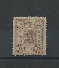 1894 CHINA DOWAGER 6 candarins USED H BLUE OVAL CANCEL
