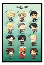 Attack On Titan Chibi Characters Magnetic Notice Board Includes Magnets