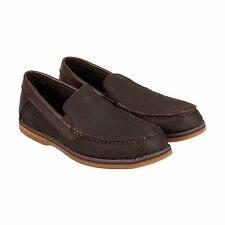 Timberland Bluffton Ventian Mens Brown Leather Casual Dress Loafers Shoes