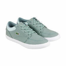 Lacoste Bayliss 216 1 Spm Mens Green Textile Lace Up Sneakers Shoes