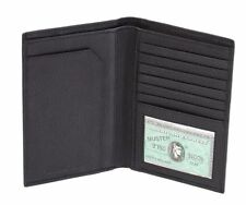 Men's Real Leather RFID Passport Holder Travel ID Cover Credit Card Wallet