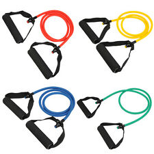Resistance Band Set Yoga Pilates Abs Exercise Fitness Tube Workout Bands 40 lbs