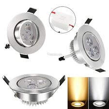 9W LED Recessed Ceiling Light Downlight Spot Lamp Warm/Cool White AC 85-265V W3
