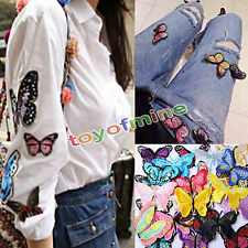 1/10 Embroidery Butterfly Sew Iron On Patch Badge Embroidere Fabric Applique DIY