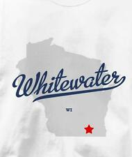 Whitewater, Wisconsin WI MAP Souvenir T Shirt All Sizes & Colors