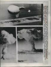 1968 Press Photo Fangataufa Detonation of hydrogen bomb  - nera00288
