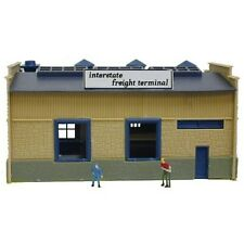 Model Power 2583 N-Scale Lighted Truck Depot with Two Figures Built-Up