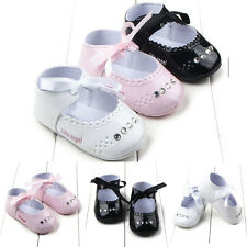 New Toddler Newborn Girl Crib Shoes Sneaker Leather Baby Soft Sole Shoes 0-18M