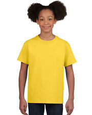 NEW BLANK PLAIN TSHIRT - Kids Yellow - 100% cotton - Size L (12/14) XL (14/16)