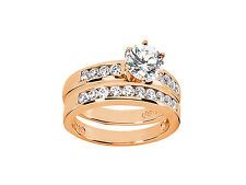 1.30Ct Round Brilliant Cut Diamond Engagement Ring Set Solid 14kt Gold