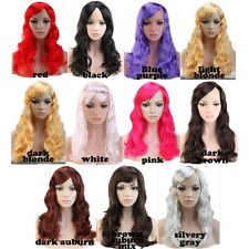 Cheap Long Hair Curly Fancy Dress Wigs Cosplay Costume Ladies Full Wig Party #hg