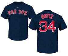 David Ortiz #34 Boston Red Sox Name and Number Men's Navy Blue Player T-Shirt