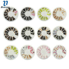 1 Wheel Nails Art Acrylic Multi-Color Rhinestone Manicures Jewelry ZP232-ZP243