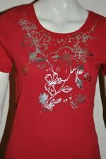 Kaleidoscope PRINTED TOP with silver detail IN CORAL - size UK 12