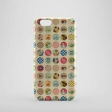 Old School Style Small Circle Cartoon Pictures Phone case
