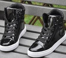Mens Lace Up High Top boots Korean Sneakers skate board Dance Vogue Comfy Shoes