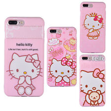 Hello Kitty Pink Apple iPhone 7 7 Plus Case Bumper Soft Silicone Cover Skin