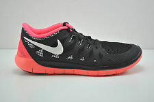 Nike Free 5.0 GS Running Shoes Youth Sz 5.5 = Womens Sz 7 Black Pink 644446 005