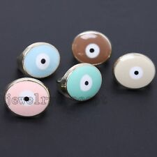 10pcs Gold Plated Enamel Alloy Evil Eye Buckles Charms Findings Jewelry Making J